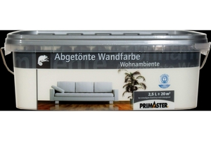 Primaster Wandfarbe Wohnambiente milch, 2,5 l