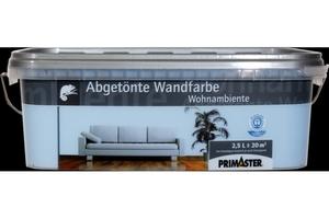 Primaster Wandfarbe Wohnambiente himmelblau, 2,5 l