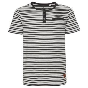 gestreiftes Henley-Shirt