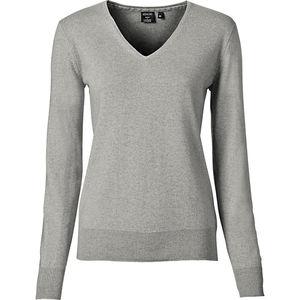 Adagio Damen Seide/Cashmere-Pullover, V-Ausschnitt
