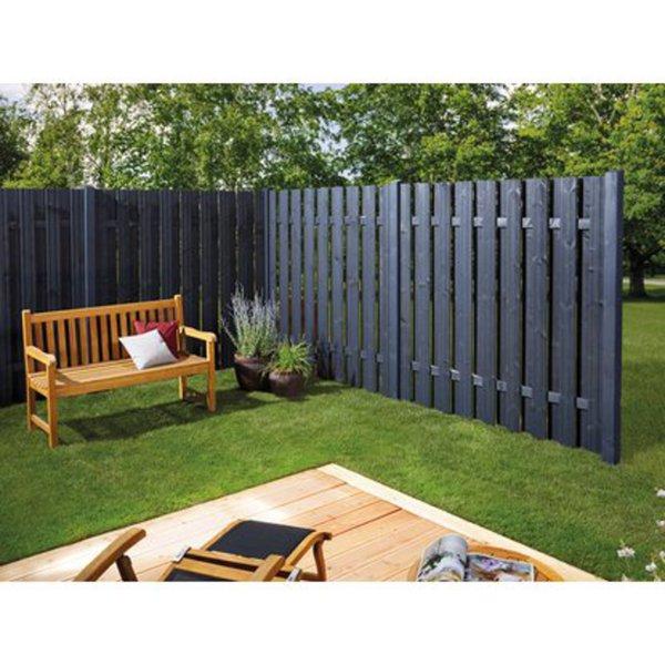 sichtschutzzaun seattle 180 x 180 cm anthrazit von obi. Black Bedroom Furniture Sets. Home Design Ideas