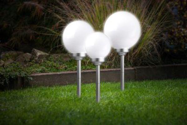 stellar solarleuchten kugel 3er set von ansehen. Black Bedroom Furniture Sets. Home Design Ideas
