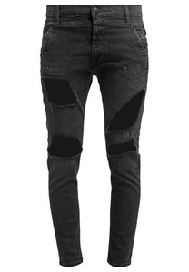 Replay DENICE Jeans Relaxed Fit black heavy destroyed