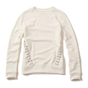 Sweatshirt mit Rundhalsausschnitt und Schnürung