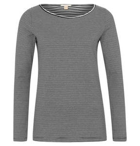 ESPRIT             Langarmshirt, Streifen-Muster, reine Baumwolle, Rundhals
