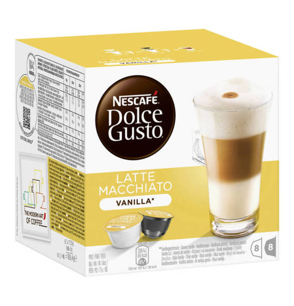 dolce gusto nescafe dolce gusto latte macchiato vanilla 8 8 kapseln 188 4g von galeria. Black Bedroom Furniture Sets. Home Design Ideas