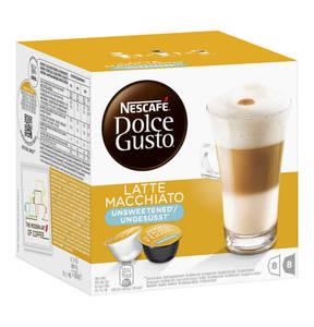Dolce Gusto             Nescafe` Dolce Gusto Latte Macchiato Ungesüsst 8+8 Kapseln 168g
