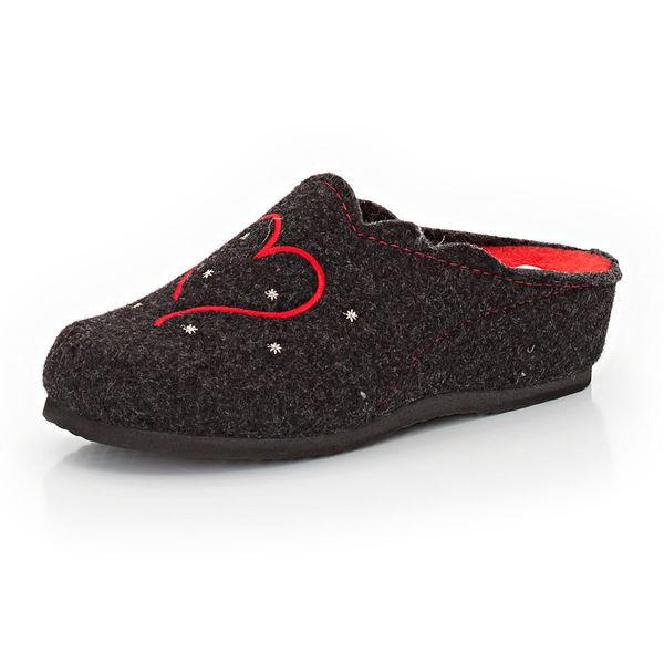 hush puppies damen filz pantoffel mit stickerei von karstadt f r 19 99 ansehen. Black Bedroom Furniture Sets. Home Design Ideas