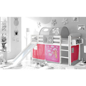 bett prinzessin 90 x 200 cm wei von d nisches. Black Bedroom Furniture Sets. Home Design Ideas