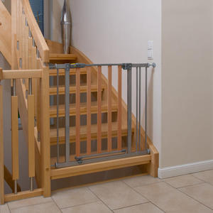 Hauck Türschutzgitter ´´Wood Lock Safety Gate´´, silver