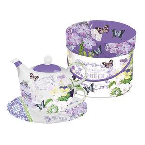 """ppd Tea-4-One Set """"Vintage Violets"""""""