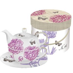 "ppd Tea-4-One Set ""Peonies/Butterflies"""