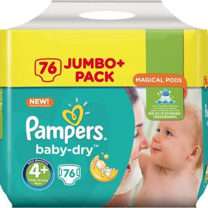 Pampers Baby Dry Maxi+ Windeln Jumbo Pack