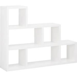 Raumteiler Tyler 2 in Weiß mit 6 Fächern