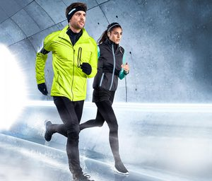 Windprotection-Lauftight mit Shorts