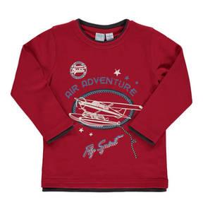 BOB der Bär             Sweatshirt, Flugzeug-Print, Rundhalsausschnitt, für Jungen