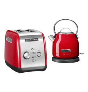 KitchenAid             Premium-Frühstücks-Set, 2‑Scheiben‑Toaster + Wasserkocher 1,25 l