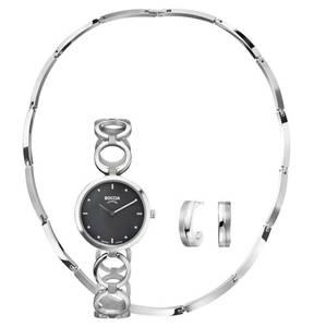 BOCCIA             Schmuck-Set mit Uhr, Collier und Halbcreolen, 3-teilig ,9002-3256