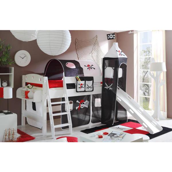 ticaa hochbett kenny rutsche turm schr gleiter pirat schwarz wei eur von rossmann f r. Black Bedroom Furniture Sets. Home Design Ideas