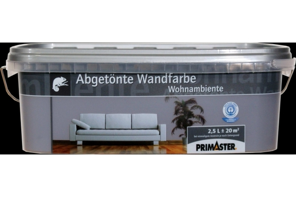 Primaster Wandfarbe Wohnambiente  lavagrau, 2,5 l