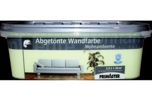 Primaster Wandfarbe Wohnambiente  apfelgrün, 2,5 l