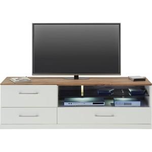 TV-Element in Weiß/akazie