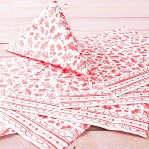 20 Papierservietten in weihnachtlichem Design