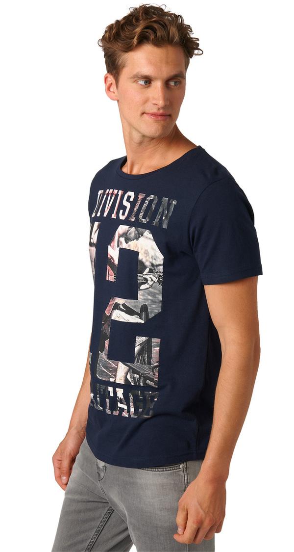 t shirt mit foto print schriftzug von tom tailor f r 15 99. Black Bedroom Furniture Sets. Home Design Ideas