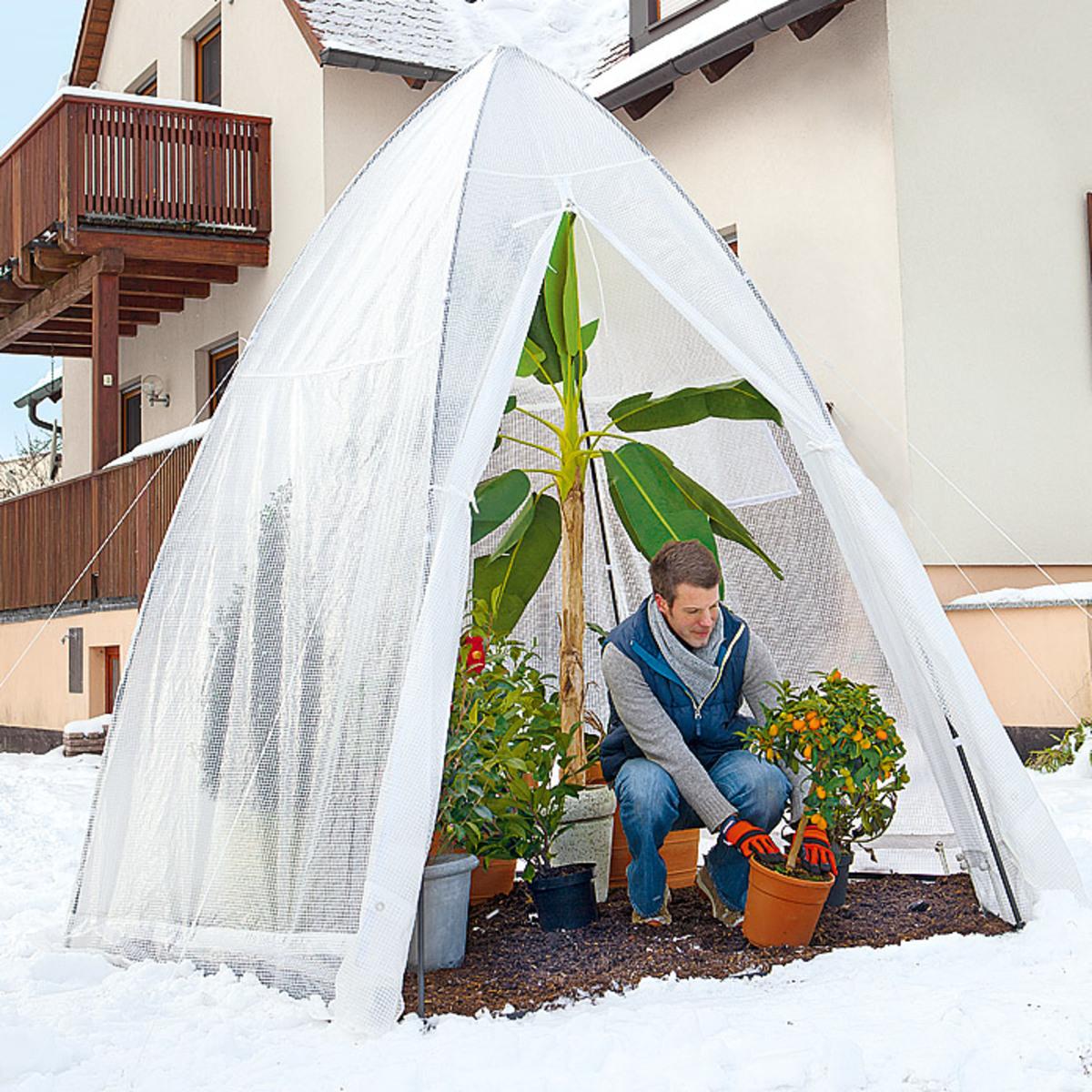 winterschutzzelt von bauhaus ansehen. Black Bedroom Furniture Sets. Home Design Ideas