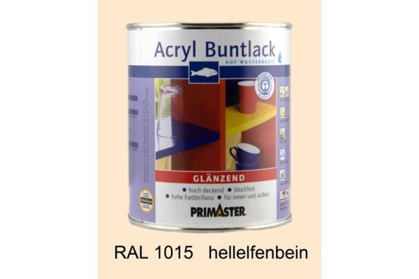 Primaster Acryl Buntlack hellelfenbein glänzend, 750 ml
