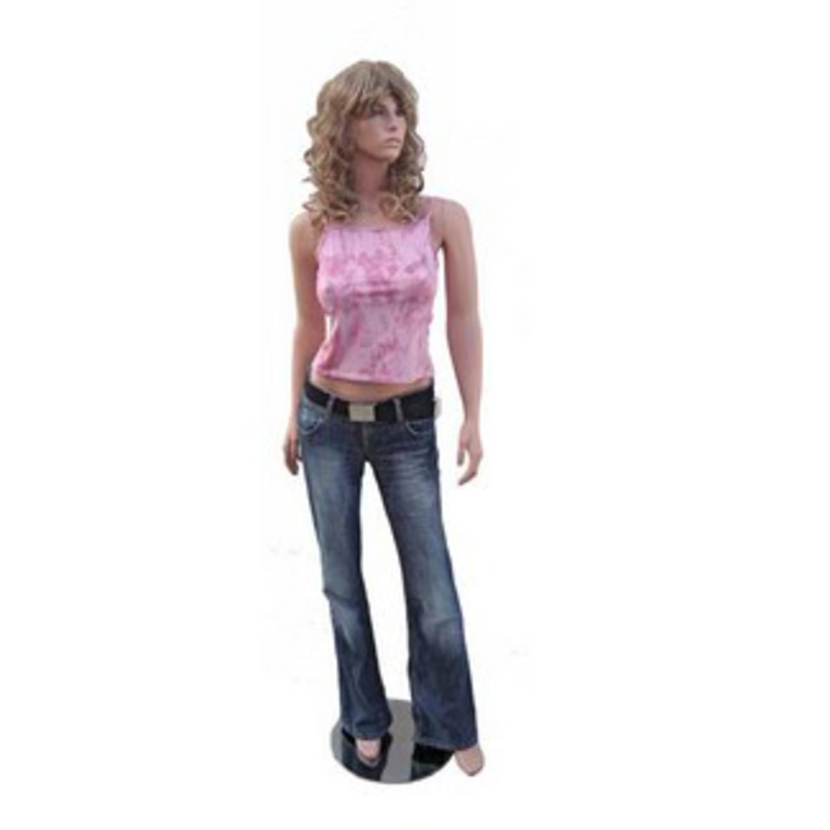 Bild 1 von Mauk Schaufensterpuppe weiblich, mit blonder Perücke