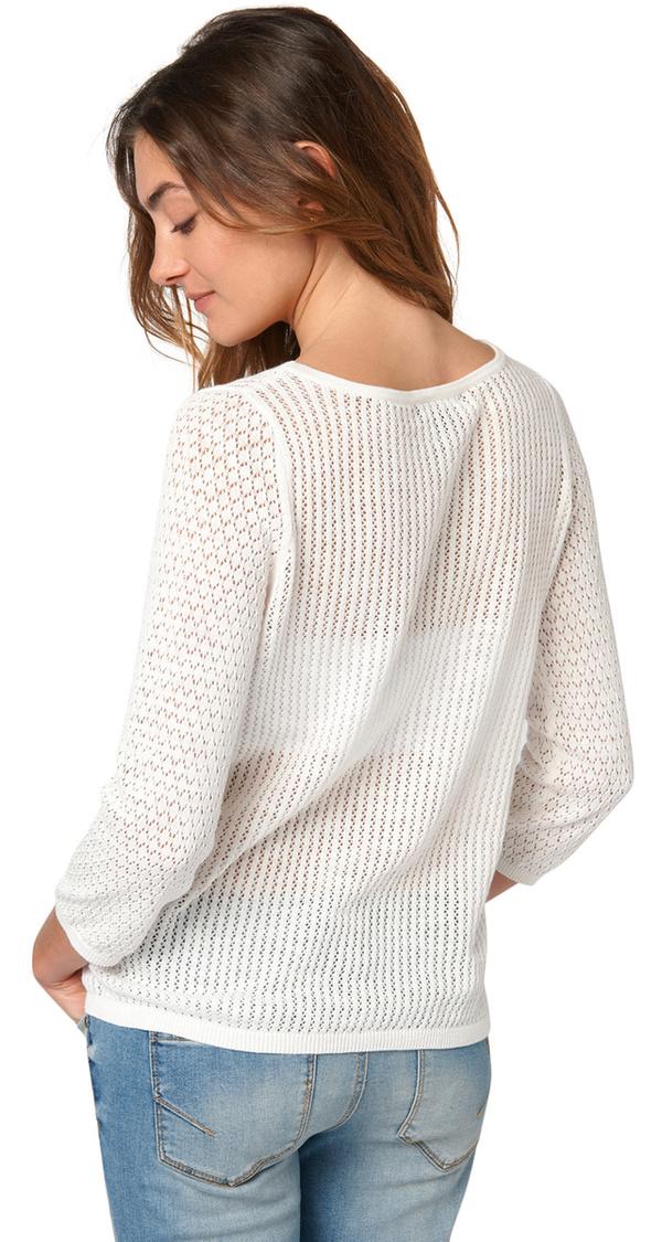 dünner Pullover aus Häkelspitze von Tom Tailor ansehen!