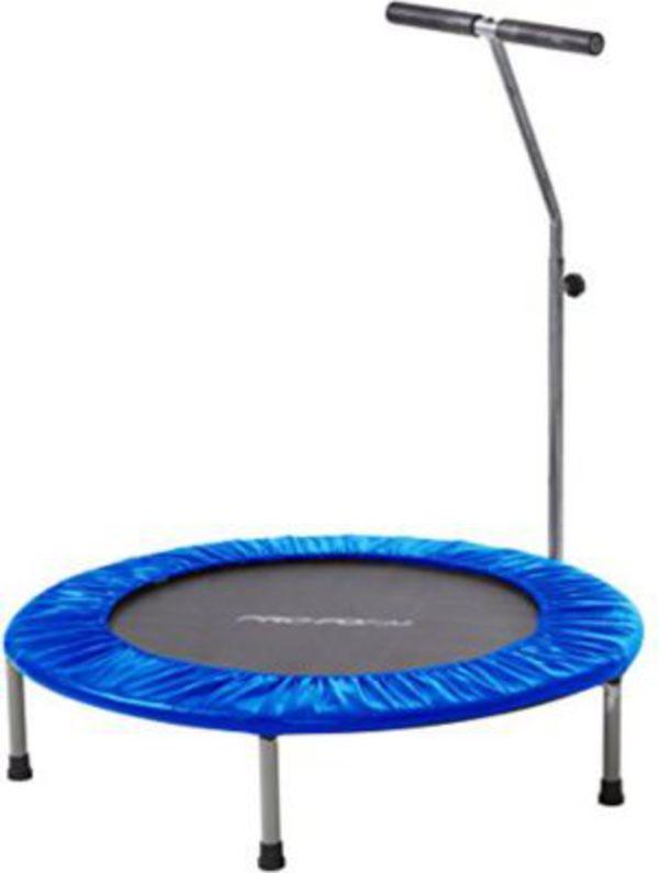 izzy fitness mini trampolin mit stange von ansehen. Black Bedroom Furniture Sets. Home Design Ideas