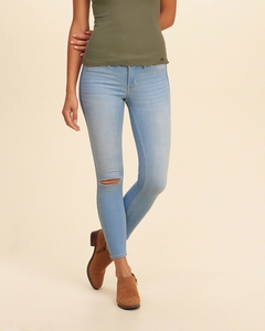 Hollister Low Rise Kurz geschnittene Jeans-Leggings