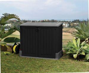 Tepro ´Store it Out´ Midi Aufbewahrungsbox, 845 L, schwarz/grau