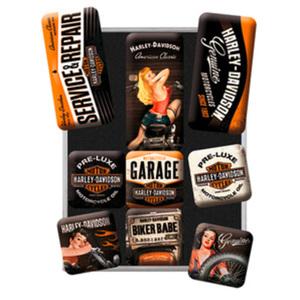 """Harley-Davidson """"Garage"""" Magnet-Set"""