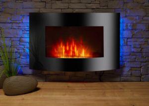 El Fuego Zürich Elektrokamin mit Heizfunktion und Kaminfeuer-Effekt