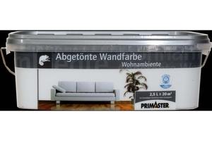 Primaster Wandfarbe Wohnambiente  antikweiss, 2,5 l