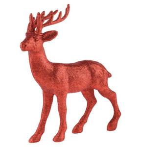 """GALERIA home        Weihnachtsfigur """"Glitter Rentier"""", 26 cm, rot"""