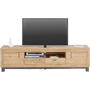 TV-Element In Sandfärbig Gebeizt