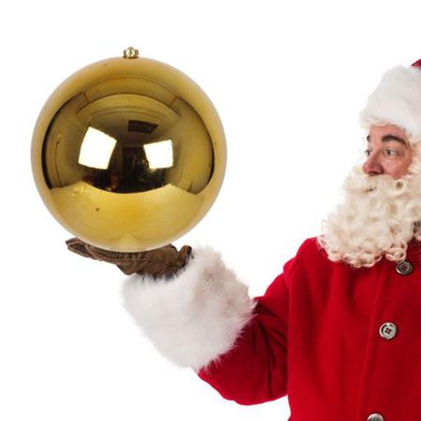 xxlweihnachtskugel 30cm gold hochglänzend von thomas