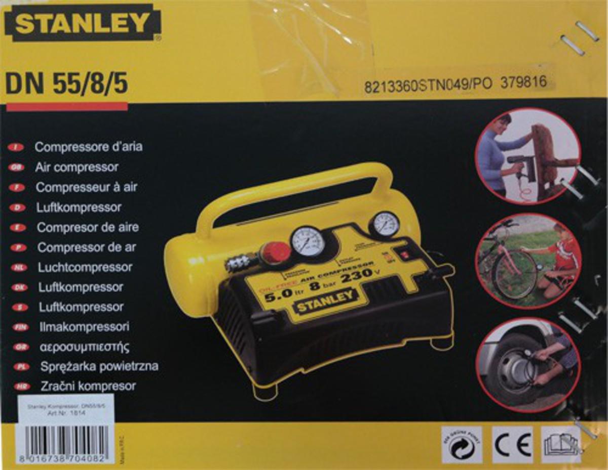Bild 3 von Stanley Druckluft - Kompressor 5 Liter DN55/8/5