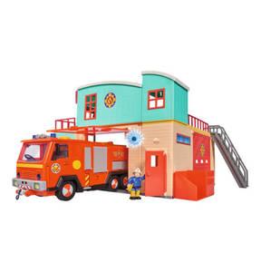 SIMBA             Feuerwehrmann Sam Feuerwehrstation mit Figur