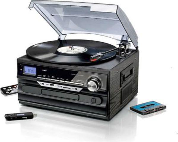 3p stereoanlage mit encoding radio plattenspieler. Black Bedroom Furniture Sets. Home Design Ideas