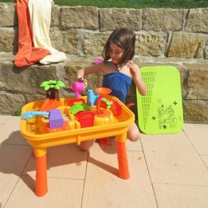Coemo Sand- und Wasserspieltisch mit umfangreichem Zubehör