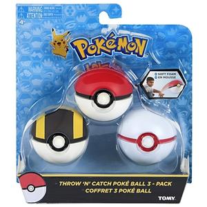 Tomy Pokémon - Pokéball Fangbälle 3er Set