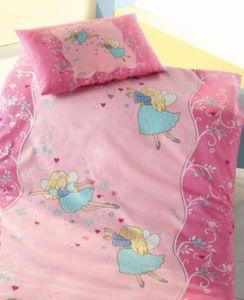 Kinderbettwäsche Fee, Biber, rosa, 100 x 135 cm