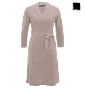 manguun collection             Kleid, 3/4-Arm, langer Saum, Taillenband