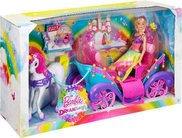 Barbie Regenbogen Prinzessin, Einhorn & Kutsche