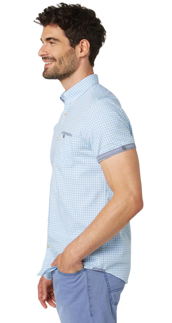 button down hemd mit karo muster von tom tailor f r 35 99. Black Bedroom Furniture Sets. Home Design Ideas